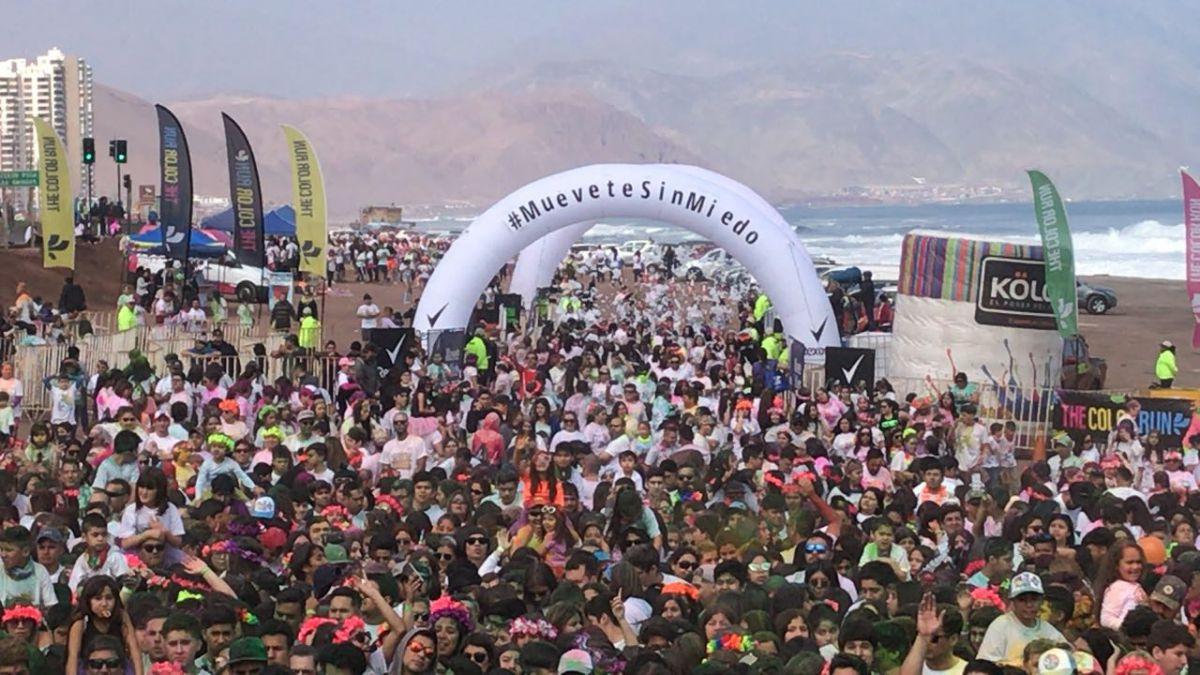 La quinta versión de The Color Run en Antofagasta reunió a 7 mil personas