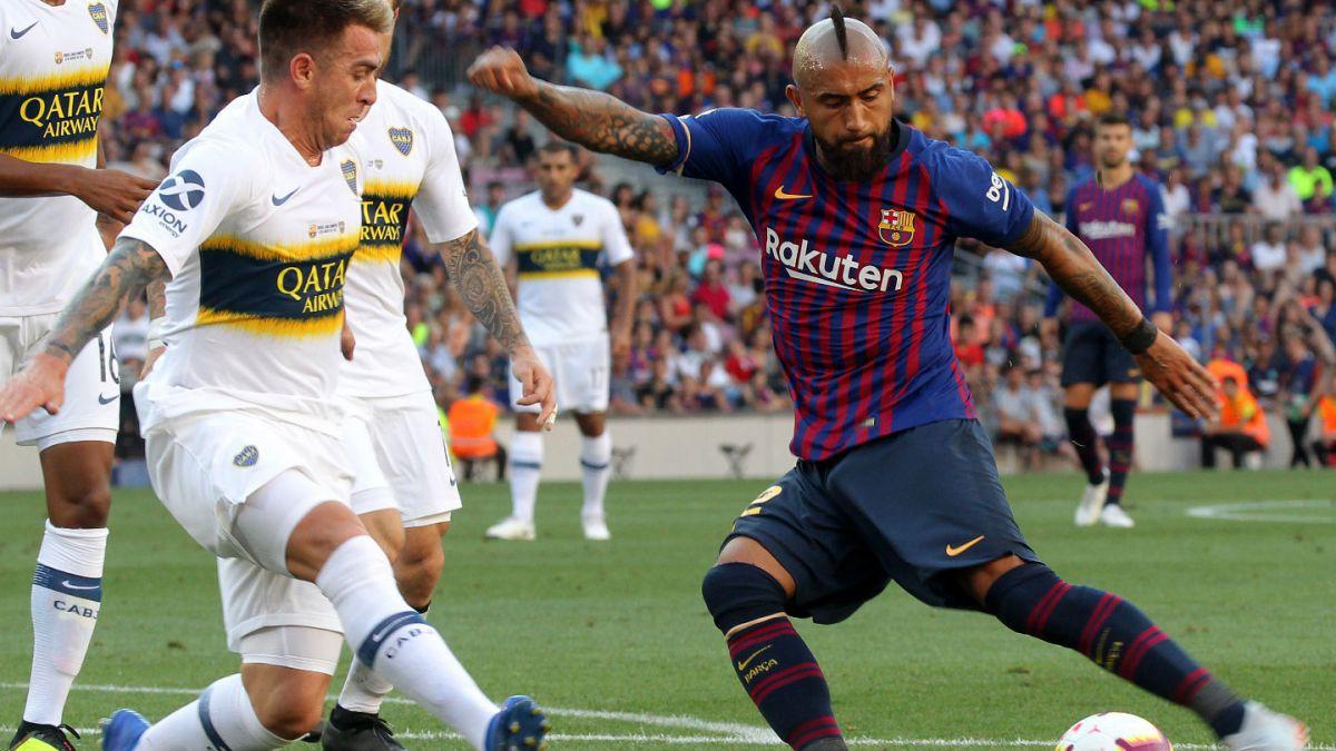 [VIDEO] Imparable: El intenso entrenamiento de Arturo Vidal fuera del FC Barcelona