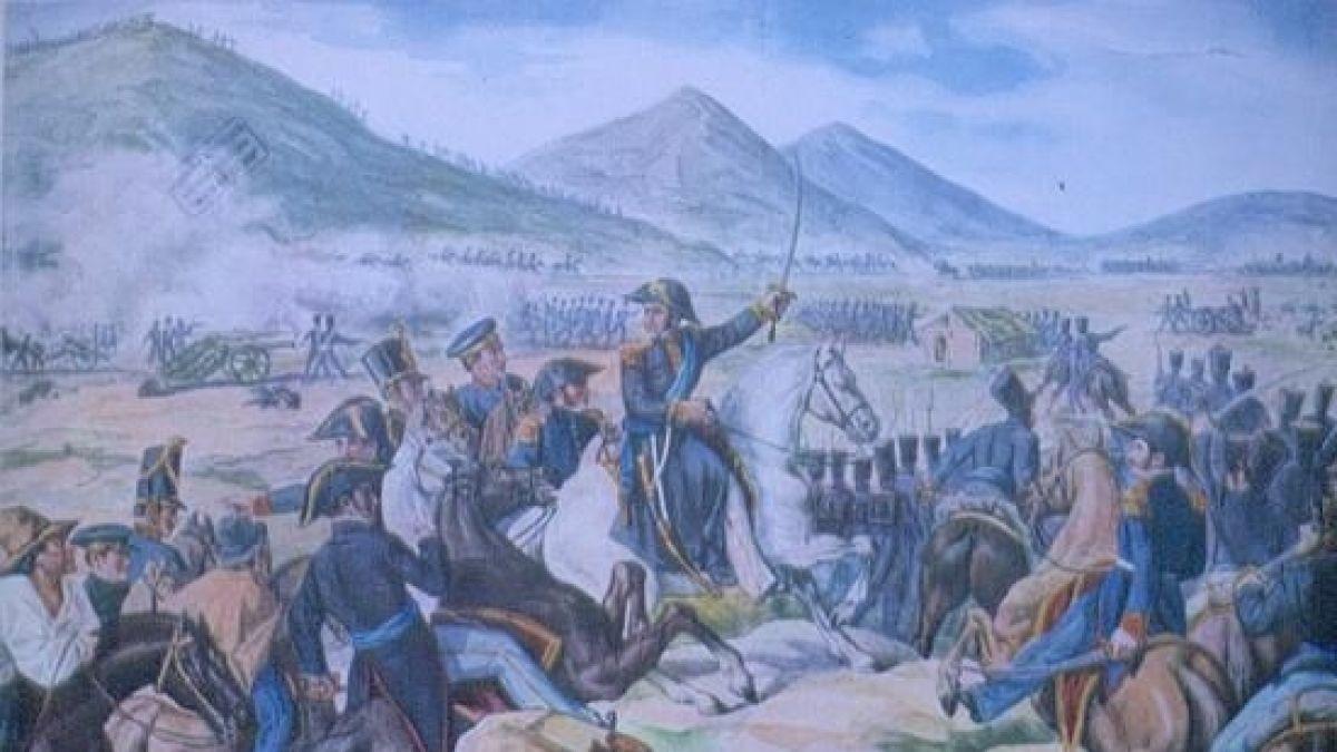 Roban histórico manuscristo del libertador José de San Martín en Perú
