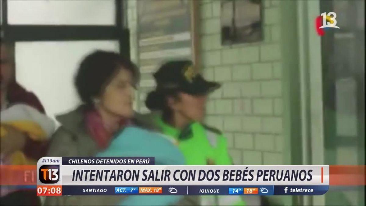 Autoridades ordenan prueba de ADN a pareja de chilenos detenidos en Perú