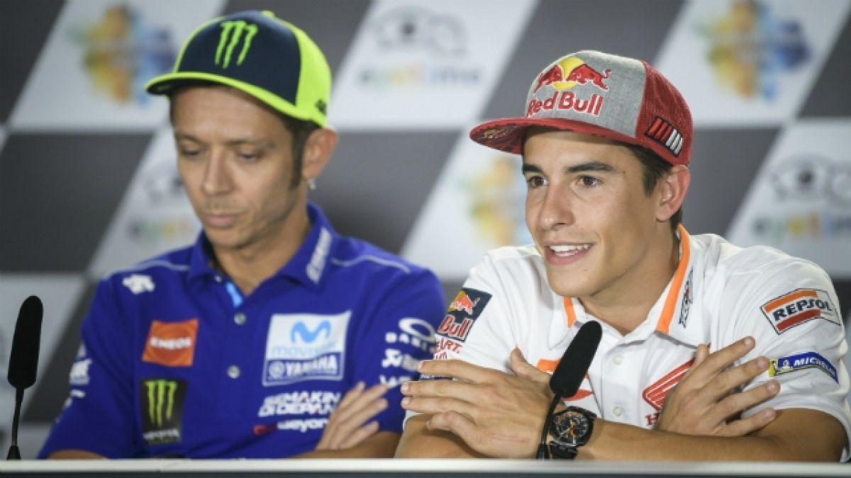 [VIDEO] Rivales en Moto GP: Así reaccionó Valentino Rossi cuando Marc Márquez quiso hacer las paces