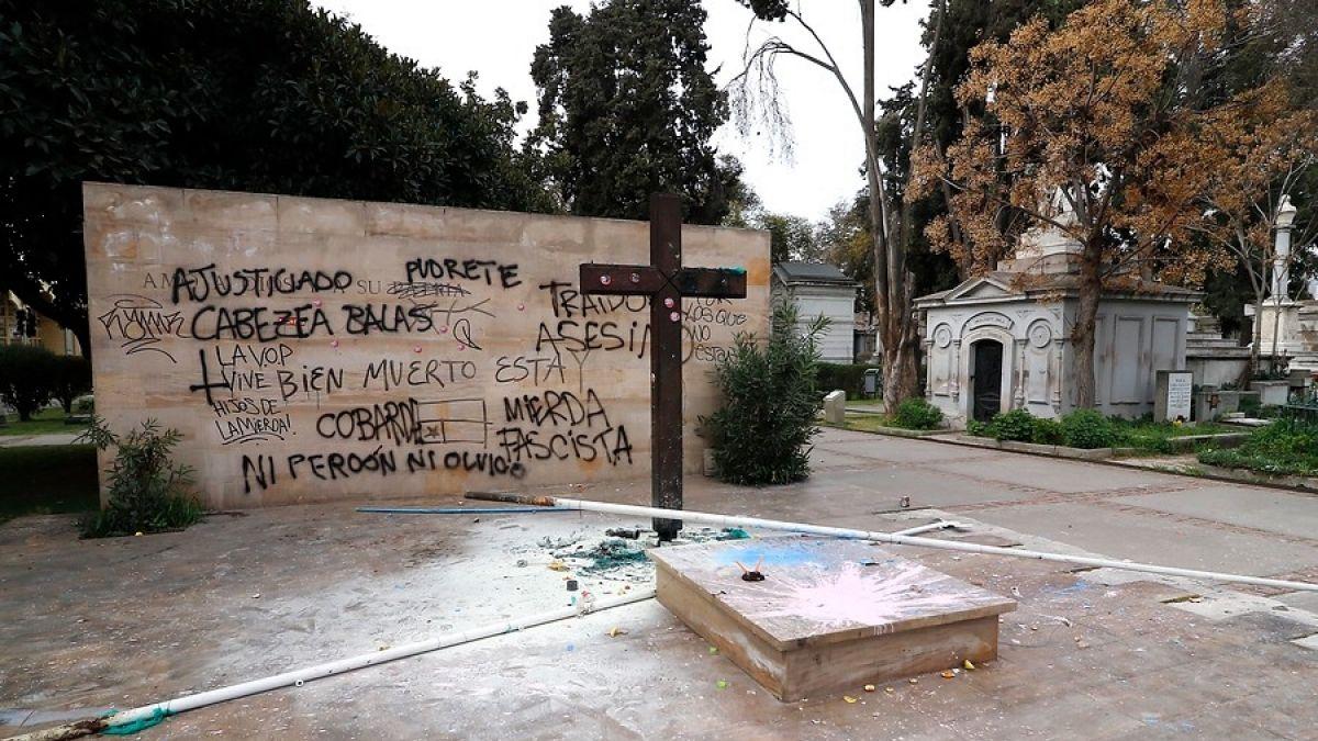 Gobierno anuncia querella por daños a tumba de Jaime Guzmán