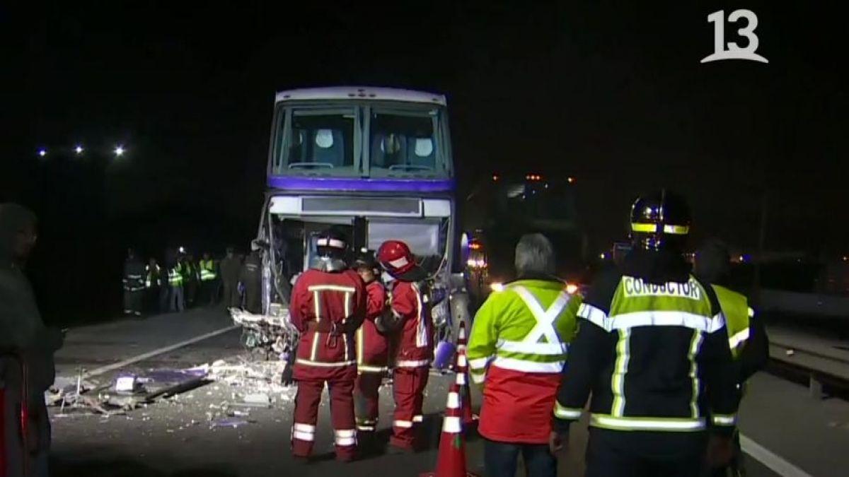 [VIDEO] Tres vehículos protagonizan accidente que deja dos muertos en Ruta 68
