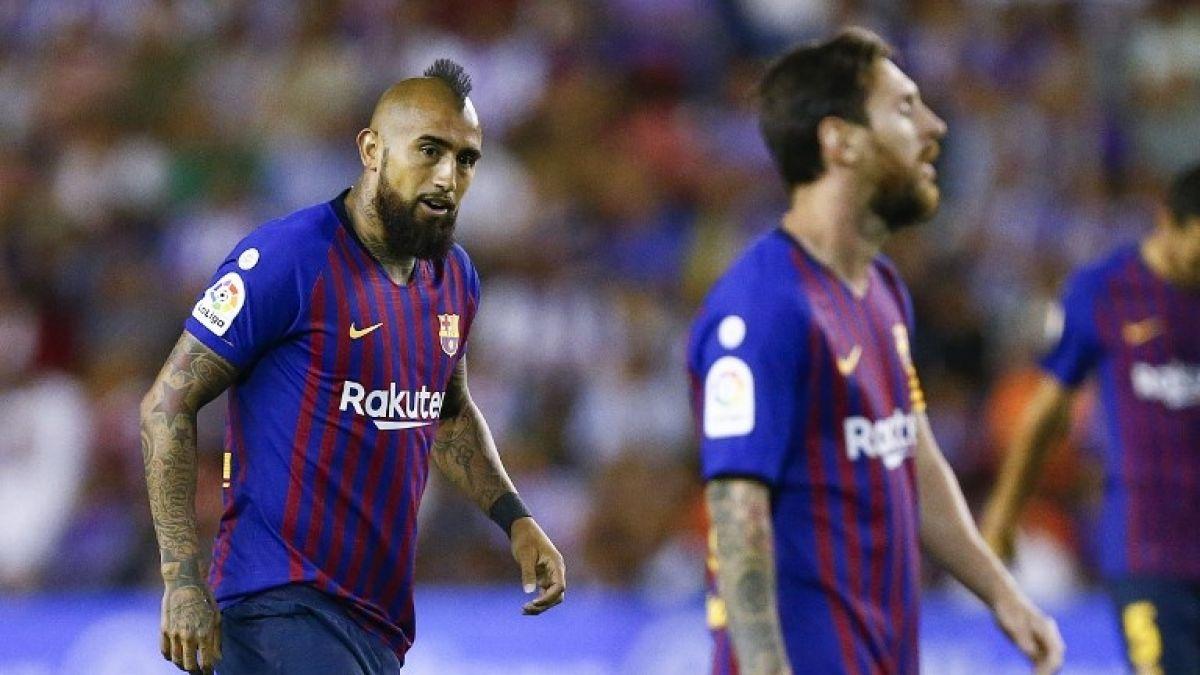 Arturo Vidal ve acción en sufrido triunfo del Barcelona ante Real Sociedad
