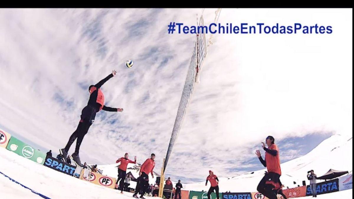 [VIDEO] Team Chile de Vóleibol Playa se toma la nieve en Valle Nevado