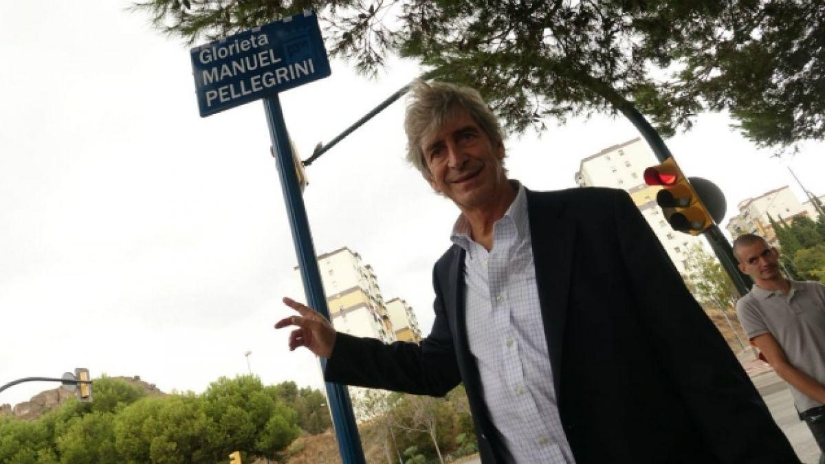 [VIDEO] Manuel Pellegrini inaugura rotonda con su nombre en Málaga