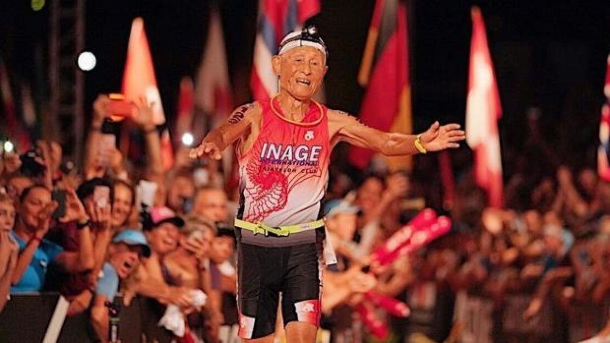 Ironman a los 86 años: Japonés se convierte en el más longevo en acabar triatlón de Hawái