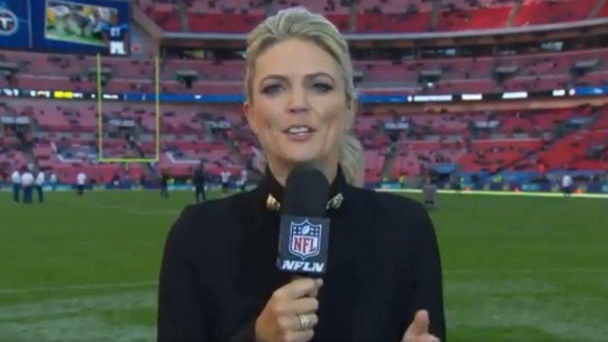 """[VIDEO] Reportera de la NFL sufre el golpe """"más duro"""" de su carrera en 20 años"""
