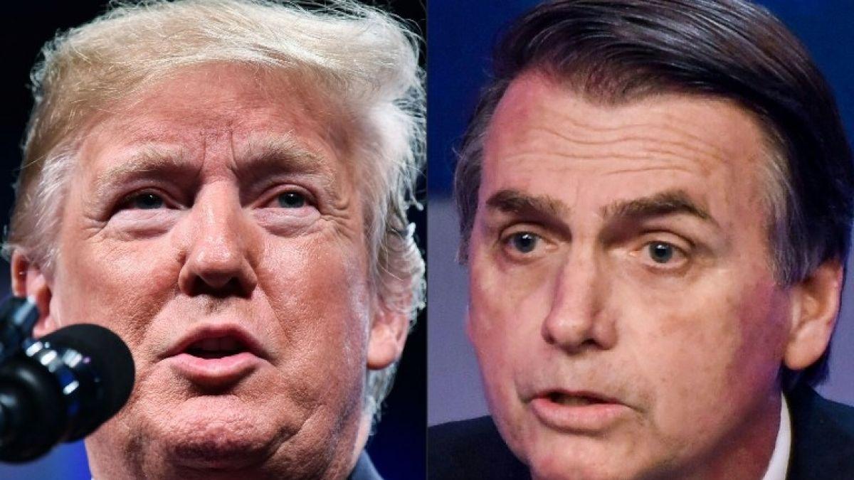 Trump llama a Bolsonaro para felicitarlo por su victoria electoral en Brasil