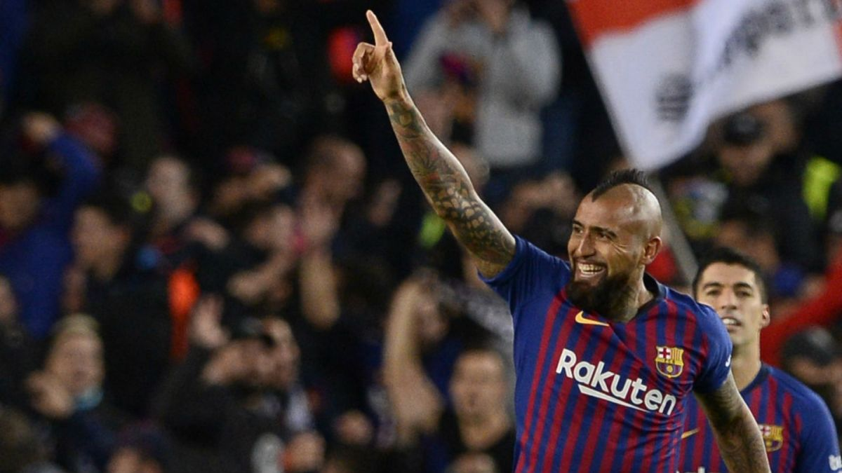En España destacan el talismán que tuvo Arturo Vidal en el clásico contra Real Madrid