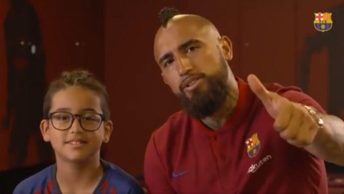 """[VIDEO] Arturo Vidal y su hijo escogen a sus cuatro """"leyendas del fútbol"""""""