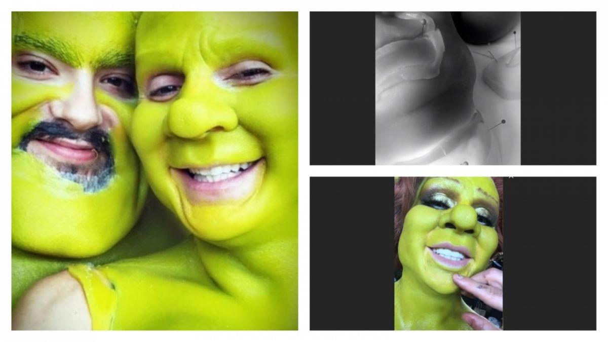 Fiona y Shrek: Las fotos y el paso a paso del impresionante disfraz de Heidi Klum en Halloween