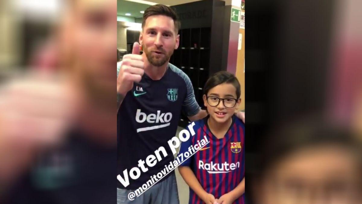 [VIDEO] Lionel Messi se sumó a la campaña de Monito Vidal en el Copihue de Oro
