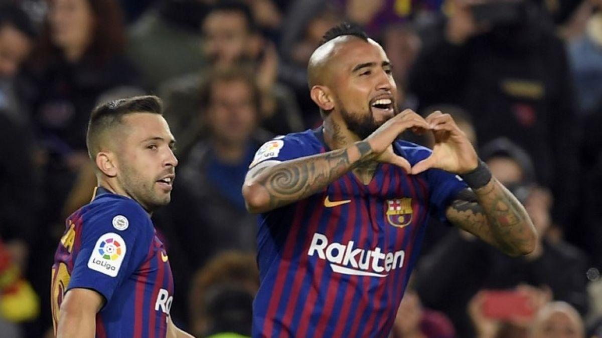 El gol de Arturo Vidal con el Barcelona en el partido frente al Betis