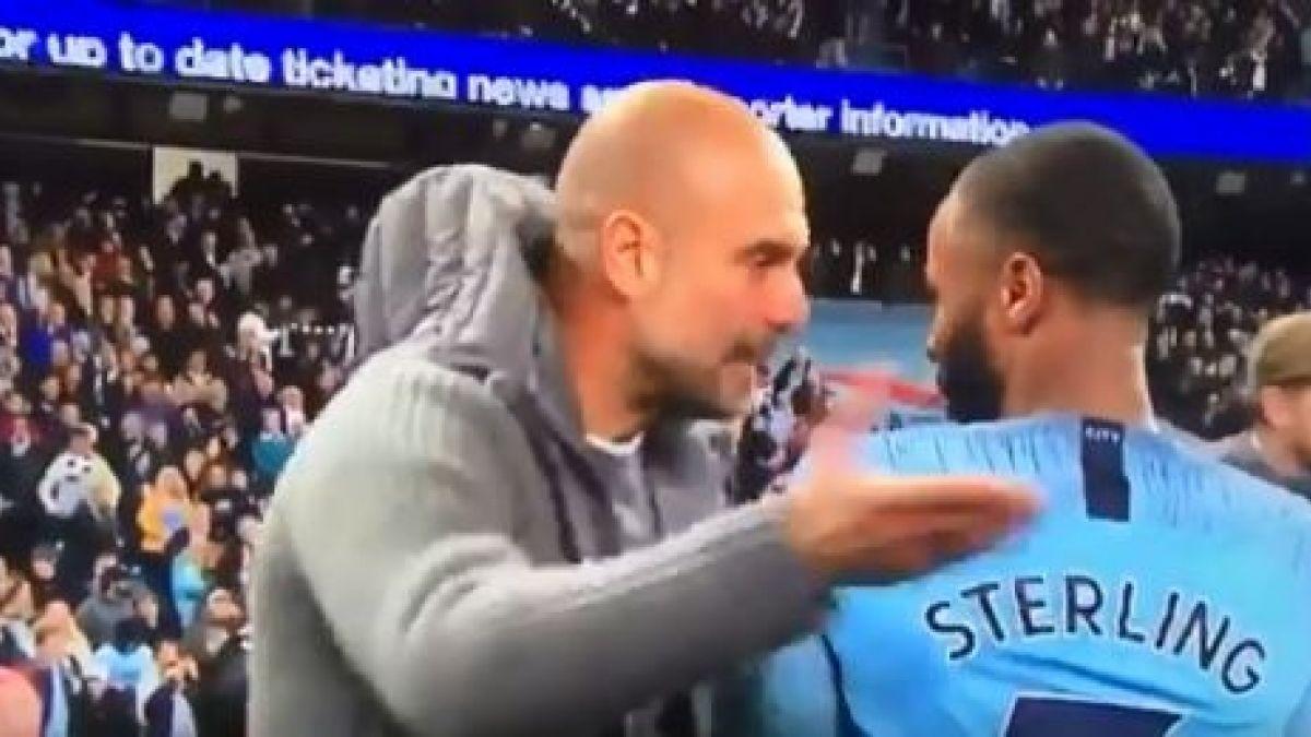 [VIDEO] Pep Guardiola recriminó a Sterling tras el partido por burlarse de sus rivales