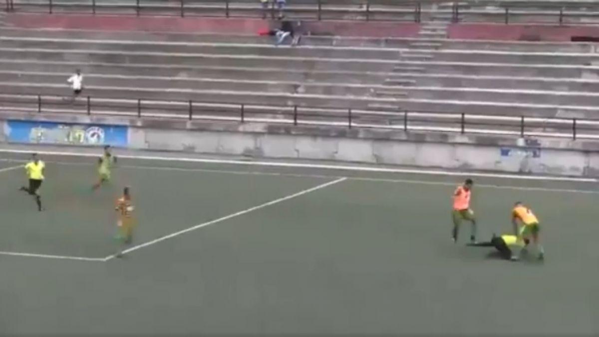 [VIDEO] La brutal agresión a árbitro que avergüenza al fútbol venezolano