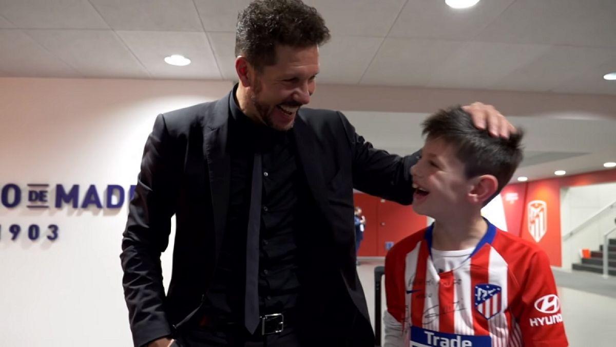 [VIDEO] La emotiva y sorprendente historia de Manu, el niño que conmovió al Atlético de Madrid