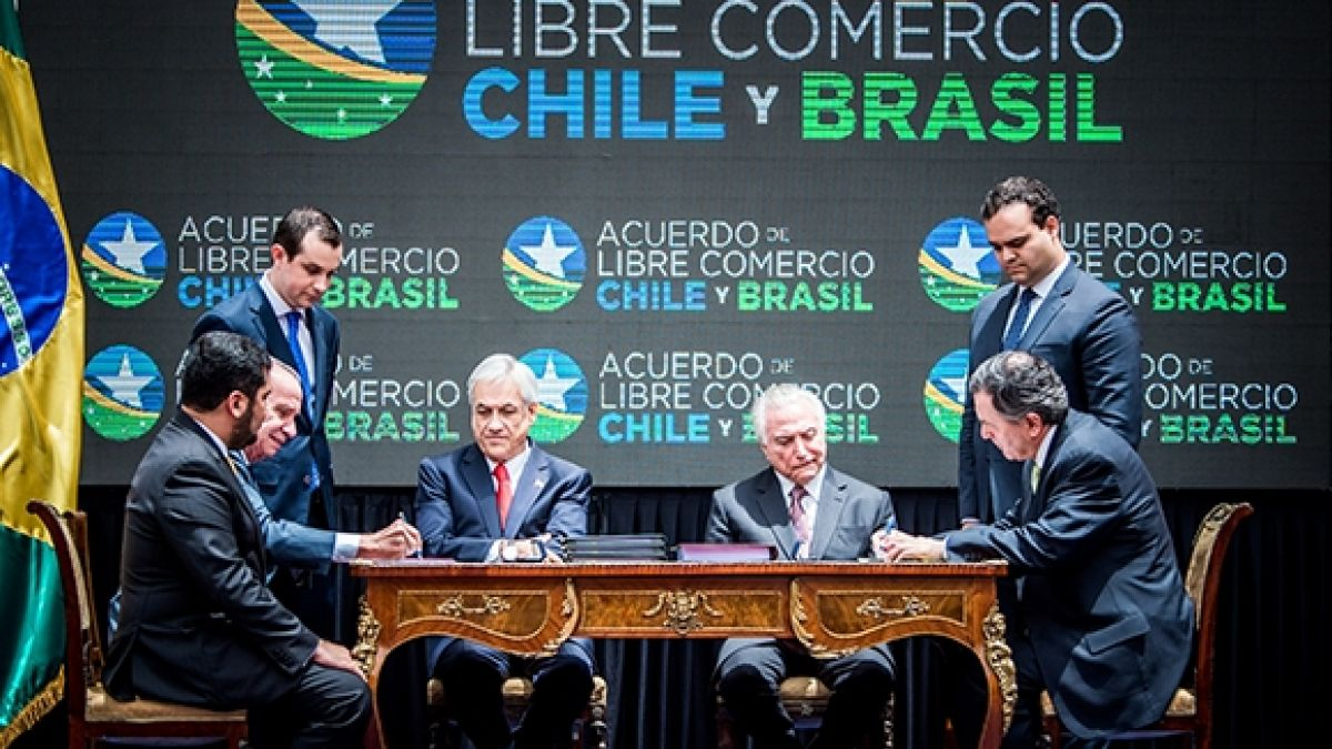 Chile y Brasil firman Acuerdo de Libre Comercio