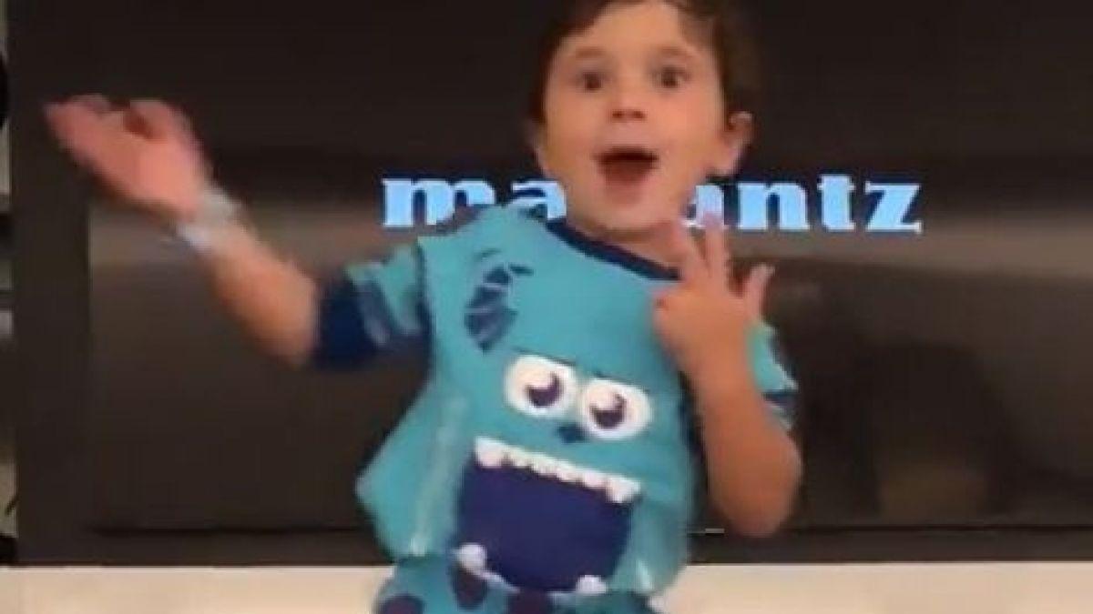 El baile de Mateo Messi que es furor en las redes