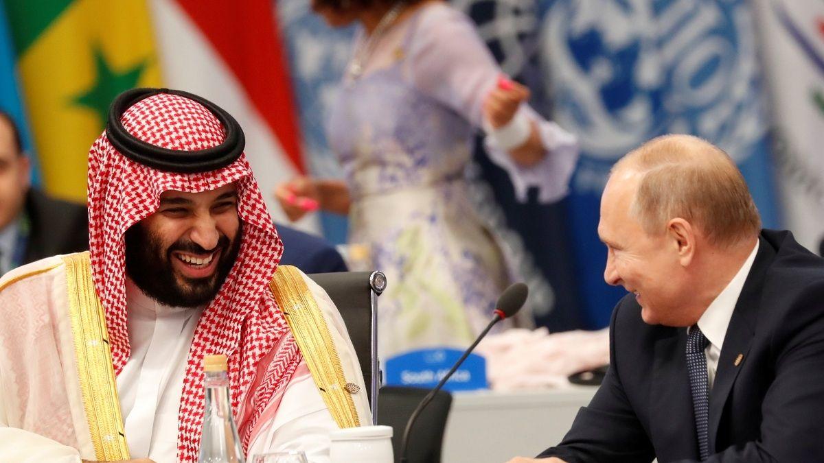 El inusual saludo de Putin y Mohamed bin Salman