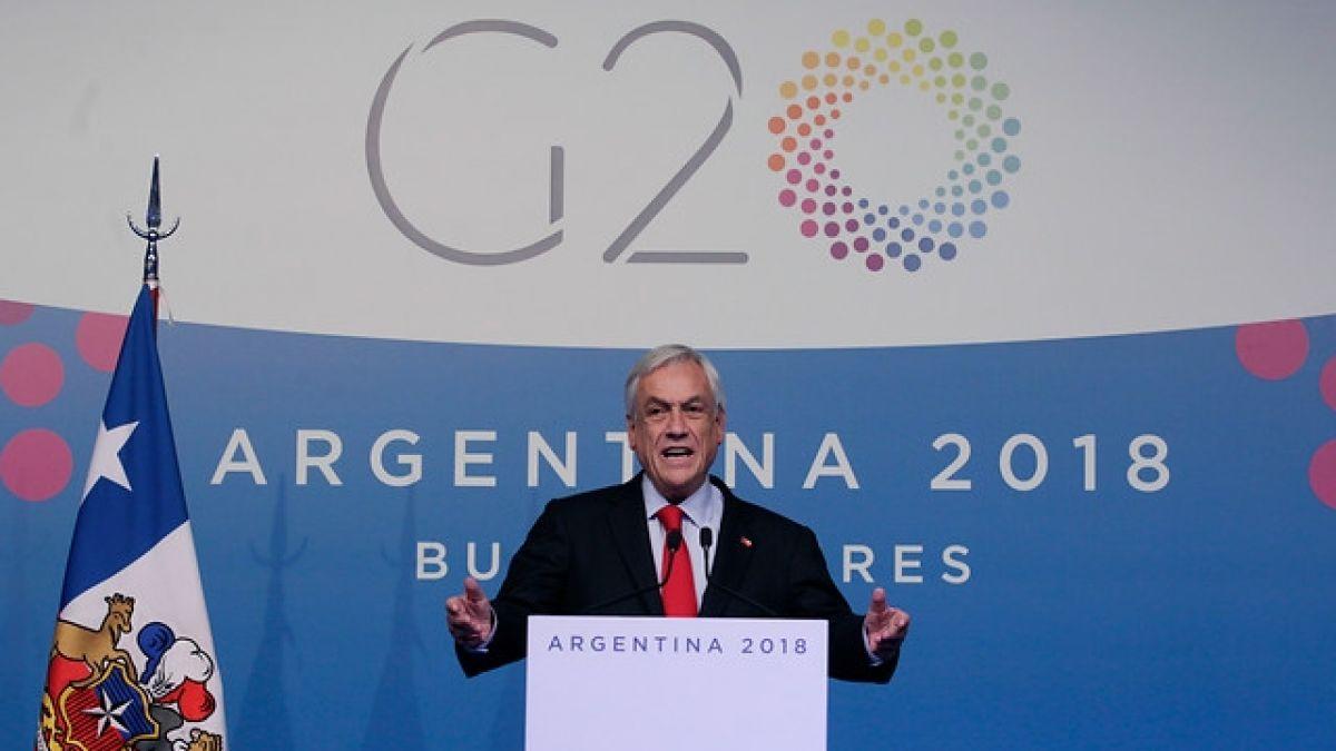 Piñera sobre acuerdos ambientales: Sabemos que son insuficientes, que todavía no se están logrando