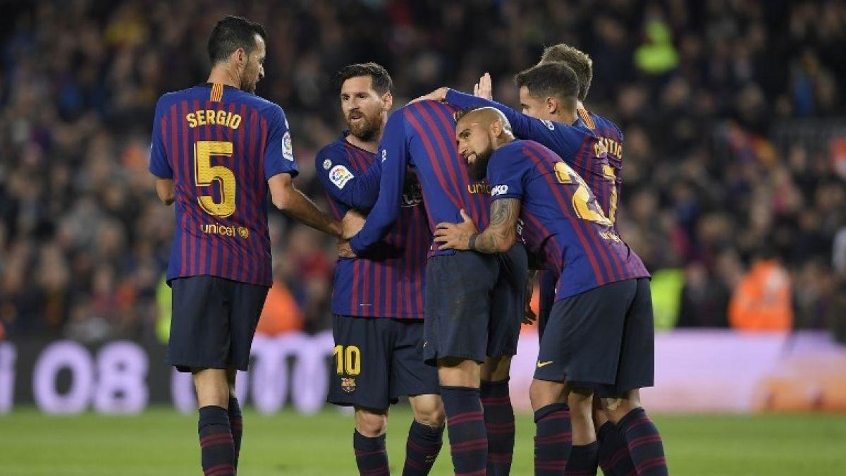 Barcelona gana ajustadamente al Villarreal con un aplaudido Arturo Vidal