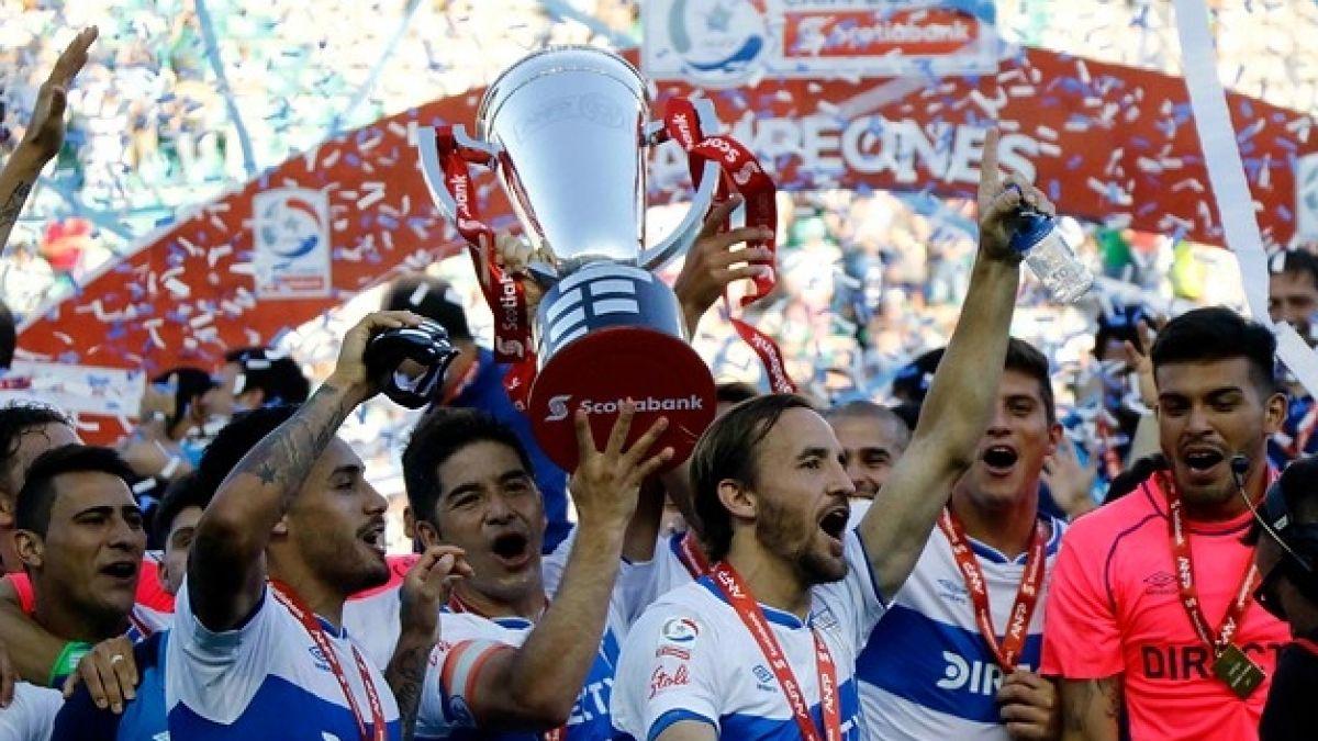 [VIDEO] Cristián Álvarez y José Pedro Fuenzalida vivieron emotiva celebración del título