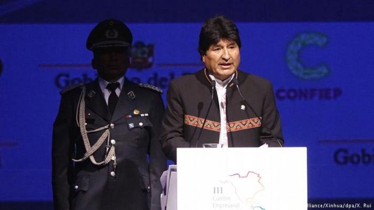 Evo Morales califica de chantaje la amenaza de sanciones de EE.UU.