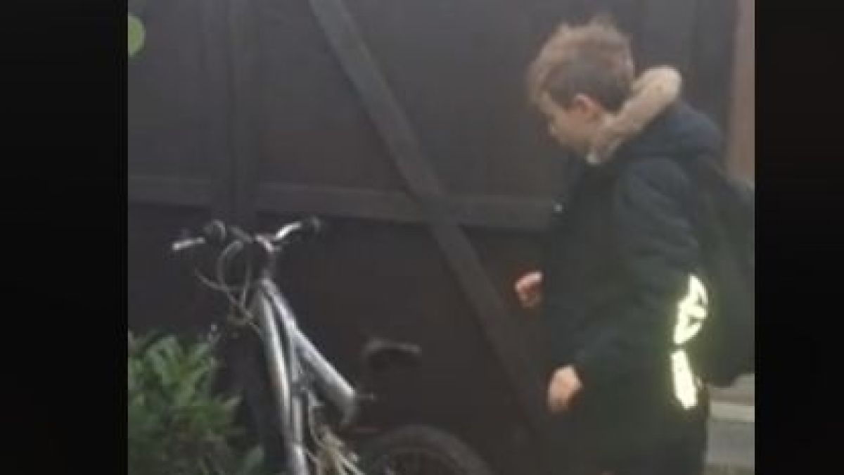 [VIDEO] Niño recupera su bicicleta gracias a emotiva publicación en Facebook