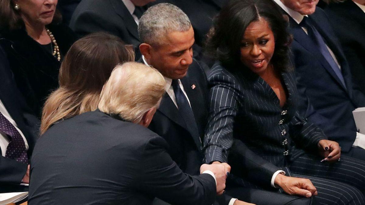 La histórica foto de los presidentes y otras curiosidades en el funeral de George Bush padre