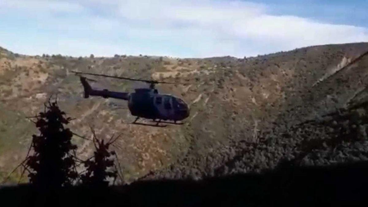 [VIDEO] Nicolás Court fue rescatado en helicóptero desde el cerro Huinganal
