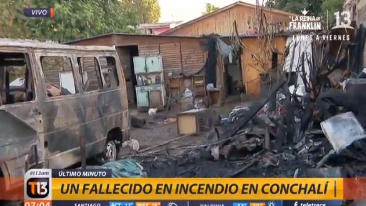 [VIDEO] Incendio en vivienda en Conchalí deja un fallecido