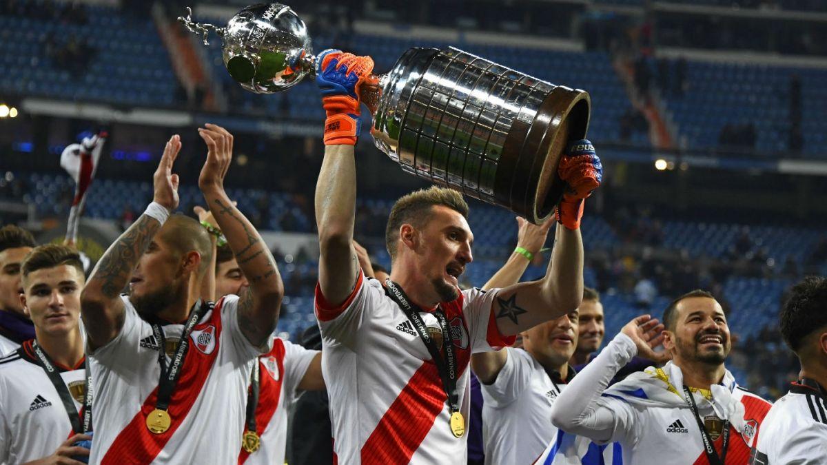 [VIDEO] La eufórica celebración de Alexis Sánchez por el triunfo de River en Copa Libertadores