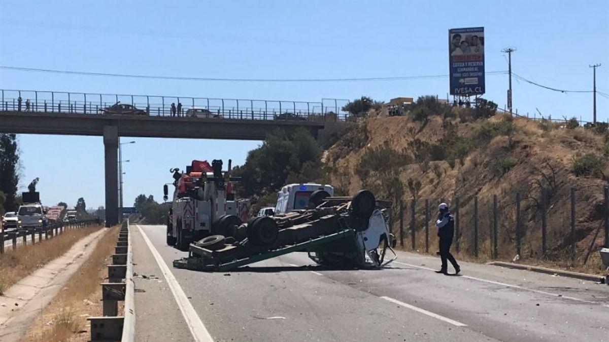 9bdb03adff55 Grave accidente de tránsito en Quilpué deja tres heridos  uno se encuentra  en riesgo vital