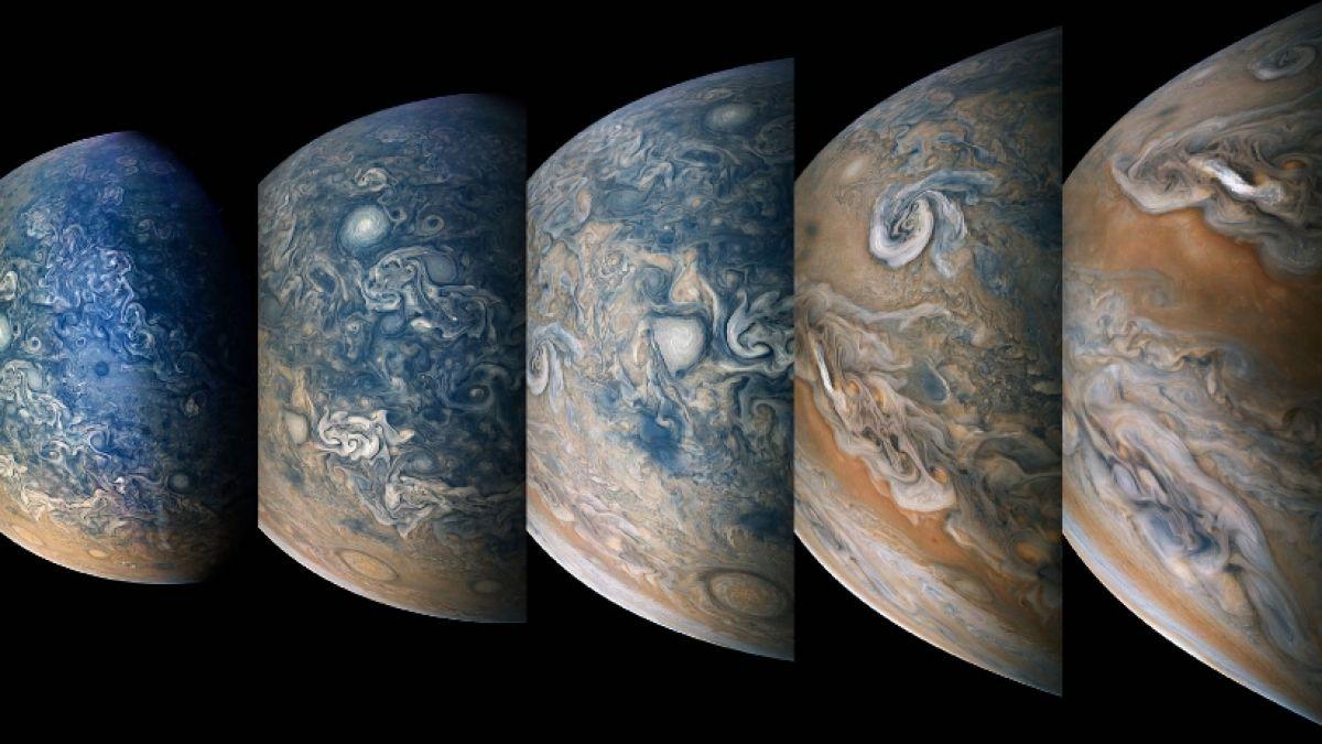 La NASA difunde imágenes inéditas de Júpiter