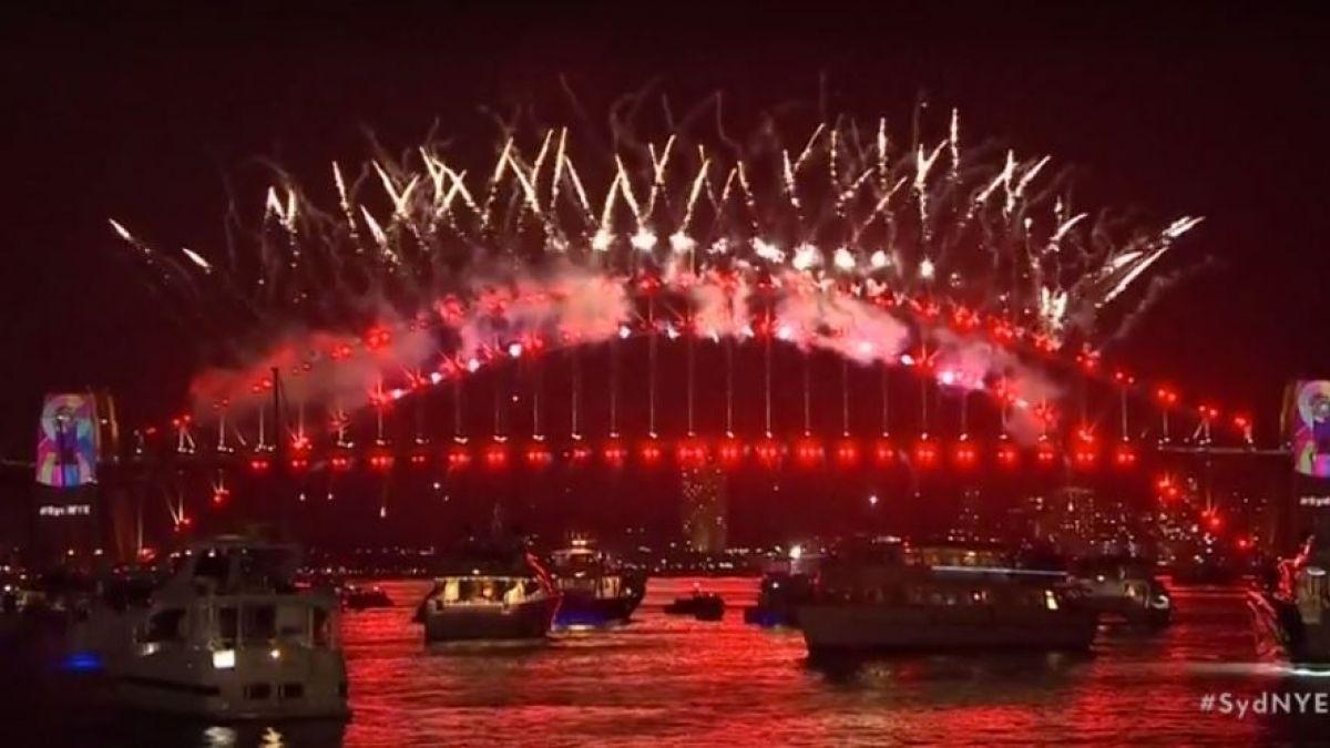 Australia recibe el 2019 con récord de fuegos artificiales