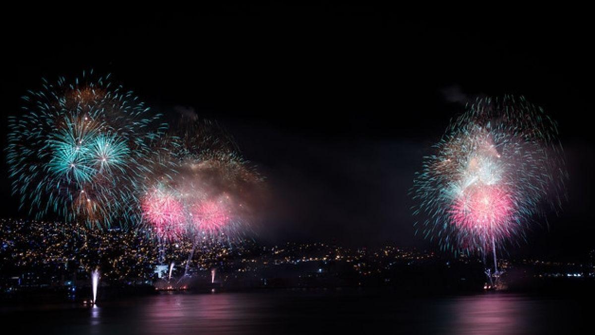 [FOTOS] Las impresionantes imágenes de los fuegos artificiales de la región de Valparaíso
