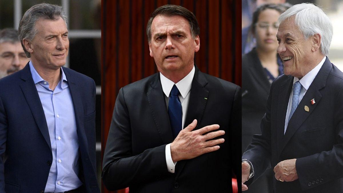 Piñera, Macri y Bolsonaro: las diferencias y similitudes entre los presidentes de derecha