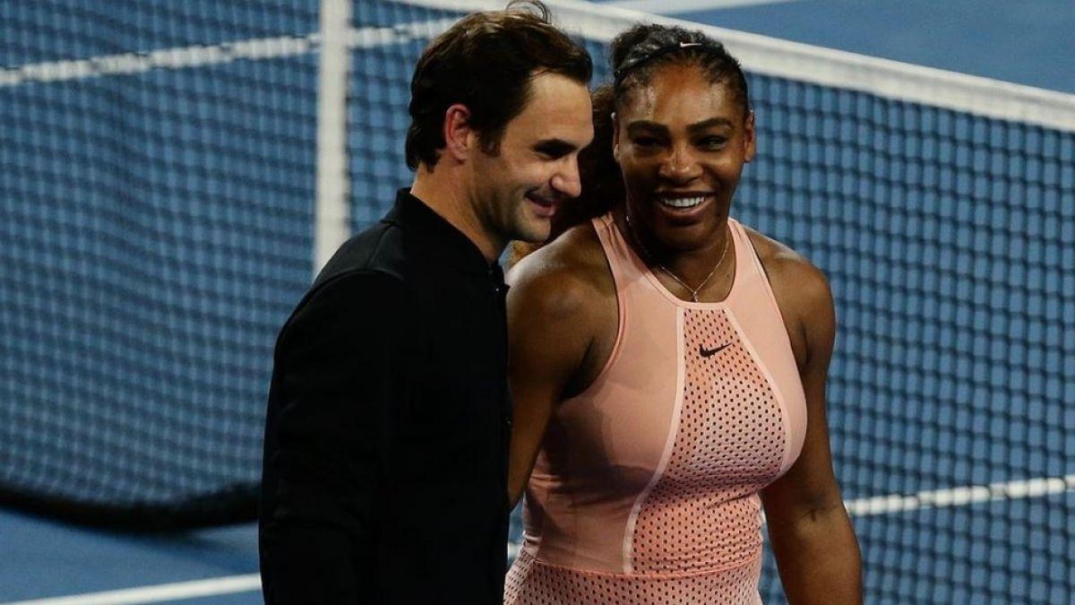 Roger Federer y Serena Williams se miden por primera vez en la misma cancha y el resultado fue...