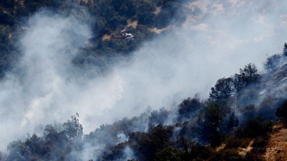 Incendios forestales: Siete focos activos se combaten en el país
