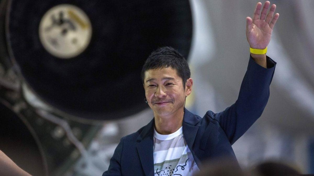 Multimillonario japonés crea tuit más compartido de la historia