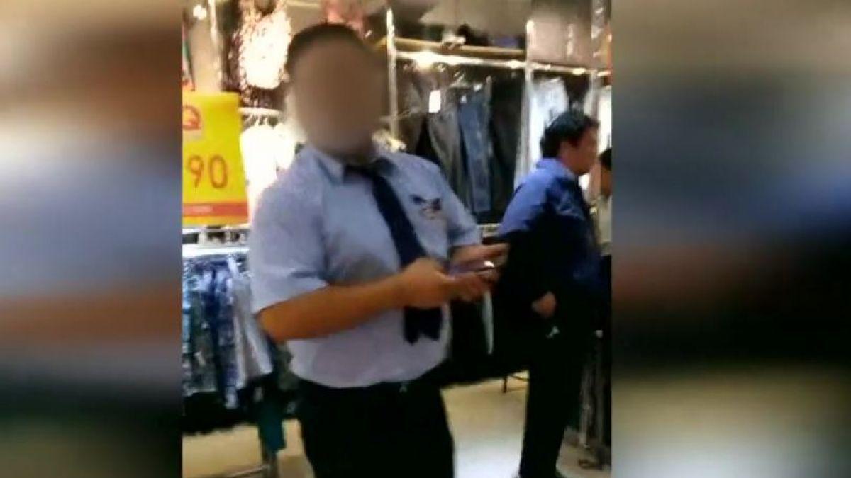 [VIDEO] Guardia de seguridad es detenido por grabar a clienta dentro de un probador en Valparaíso