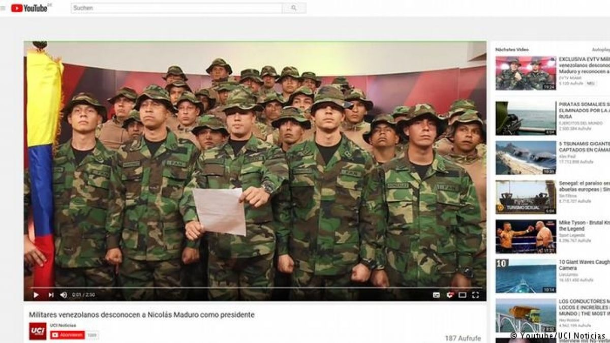 [VIDEO] Grupo de militares venezolanos exiliados en Perú se pone a las órdenes de Guaidó