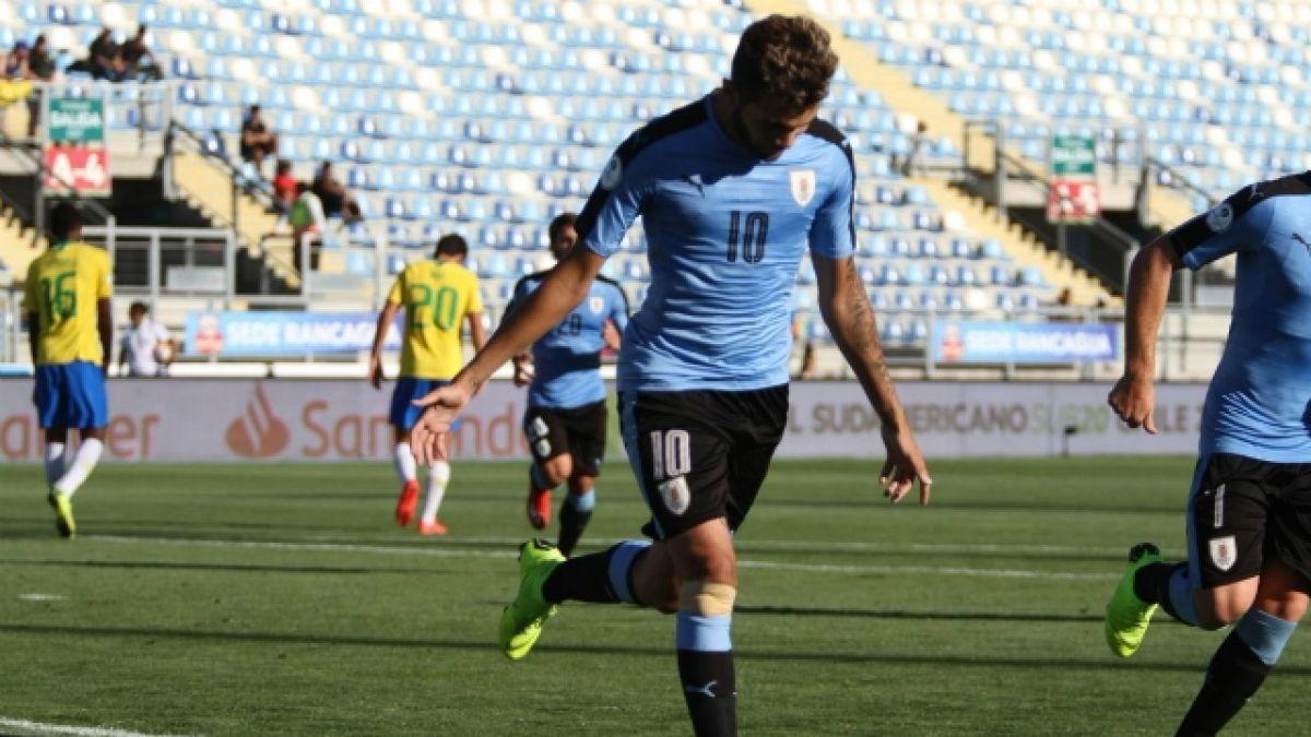 [VIDEO] Uruguay lo gana en la agonía y hunde a Brasil en el Sudamericano Sub 20