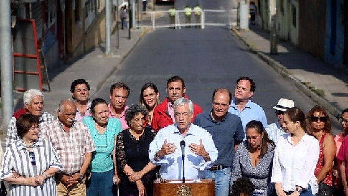 Presidente Piñera arriba a Coquimbo y anuncia plan de reconstrucción