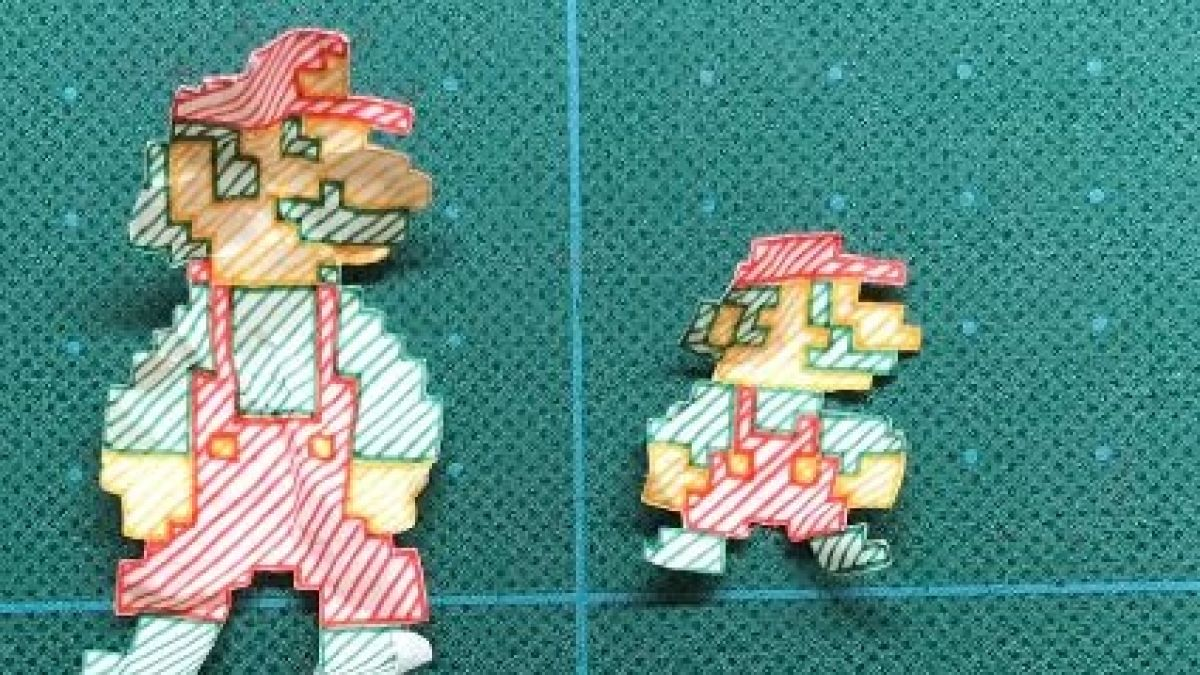 Fanático Recrea Super Mario Bros Con Dibujos Hechos A Mano