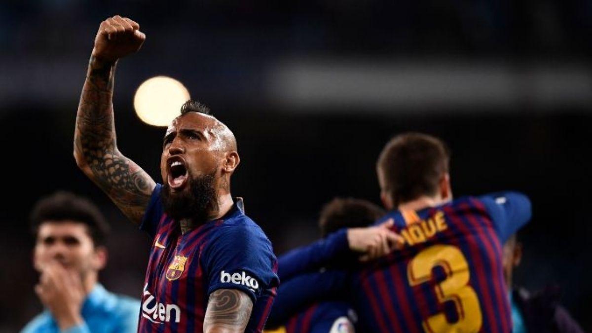 Camp Nou rendido a Vidal: Revive la ovación que recibió el chileno