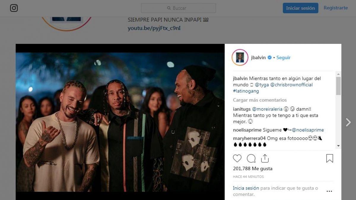 Destrozan a J Balvin en Instagram por publicar fotografía junto al indeseable rapero Chris Brown