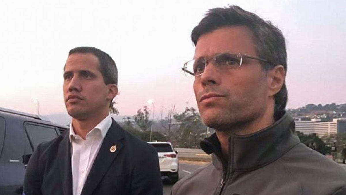 Resultado de imagen para Juan guaidó y Lopez en venezuela ultimo minuto