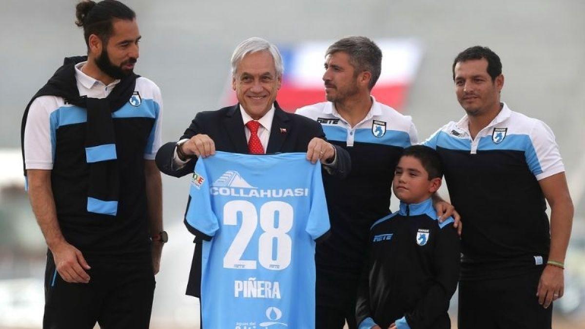 Piñera visita obras de Estadio Tierra de Campeones de Iquique y da fecha para inauguración